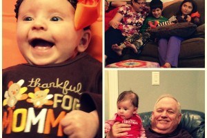 Thanksgiving and Christmas with our families.