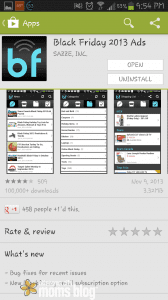 Screenshot of the App
