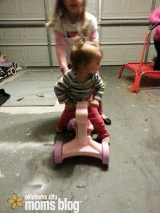 Riding toys for all.