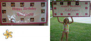 The Monthly Birthday Banner for the first year and the Banner that is used every year after that