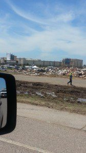 From I-35 looking at the Warren Theater