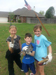 My niece, Aubree & Brody helping clean up! They were awesome helpers.