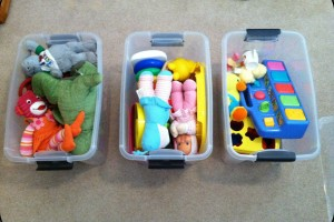 Toys all packed up!