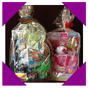 """Fishing Adventures"" or ""Hello Kitty"" Easter Baskets for the raffle!"