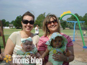 Mommies get to spend time together while babies play