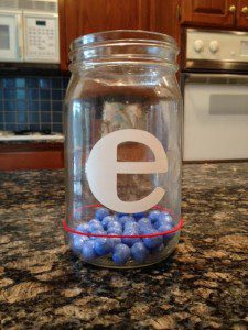 My oldest daughter's jar is almost filled!