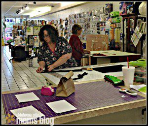 These ladies were learning how to make quilts at the North Store.