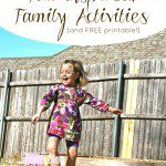 Fall Inspired, Family Activities (and FREE printable!)