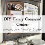 DIY Family Command Center: Simple, Functional & Stylish