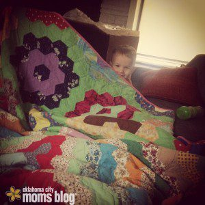 Blanket forts provide lots of fun on cold days!