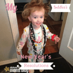 My Toddler's New Year's Resolutions