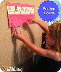 This is our homeschool routine chart.