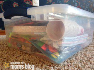 Our tub of mess making, crafty things!