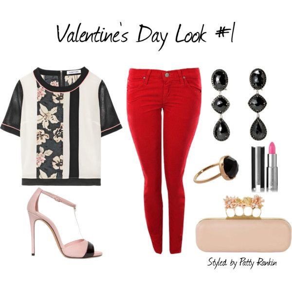 Schön Mixing Red, Light Pink, And Black Makes For A Clean, Polished, And Festive Valentine  Outfit Option.