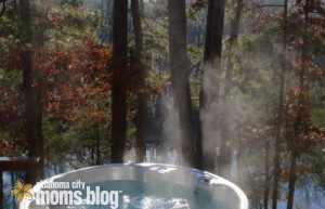 Private hot tub for two with a river's view