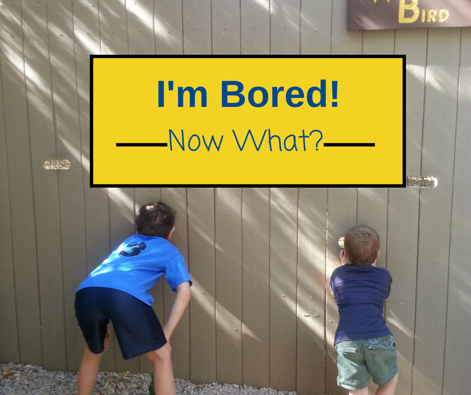 I'm Bored!Now What- Tips on how you can help kids cure their boredom