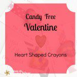 Candy Free Valentine: Heart Shaped Crayons