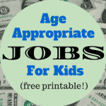 Your Child's First Job {Free Printable!}
