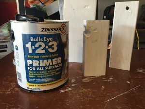 It's a good idea to prime the wood before painting.