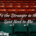 To the Stranger in the Seat Next to Me