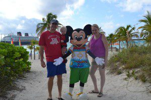 Don't you want to hang out with Mickey Mouse on a beach?!