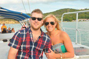 Abbey and her husband on their stress-free honeymoon!