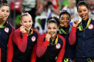 Aly Raisman, Madison Kocian, Laurie Hernandez, Simone Biles and Gabby Douglas--aka The Final Five photo credit: www.kitv.com