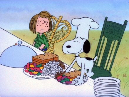 "Credit to ""A Charlie Brown Thanksgiving,"" copyright 1973, and CartoonLagoonStudios.com"