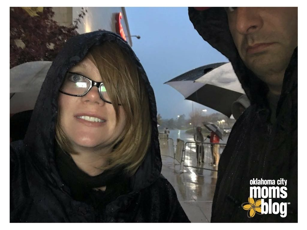 Standing in line outside the store in the cold & rain with my husband...while pregnant. Dedication!!