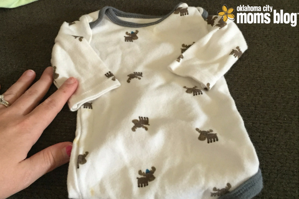 One of the tiny newborn outfits I can't part with.