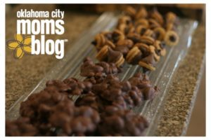 Chocolate acorns and chocolate-peanut clusters