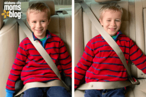 child in seat belt