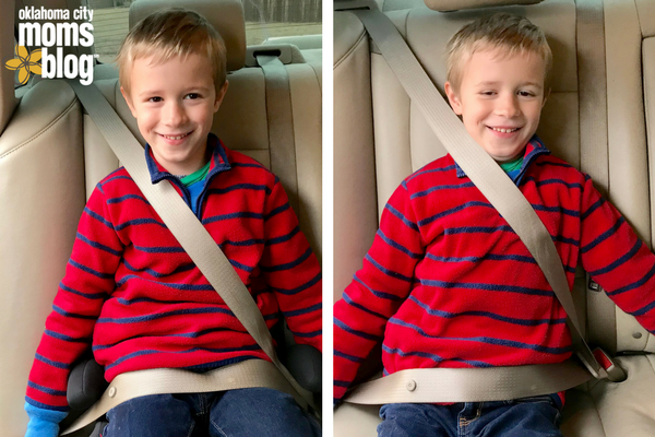 Here Is MY 8 Year Old In The Car Left Seat Belt Fit With Booster Right Only