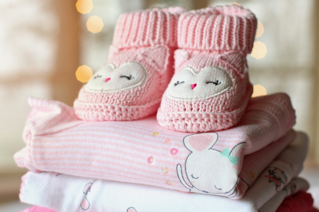 Baby registry items, baby clothes and booties