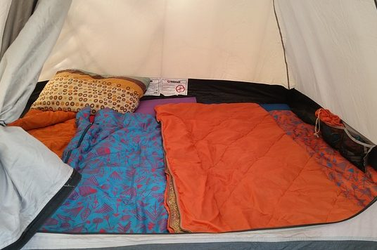 Camping tent from OKC Moms Blog