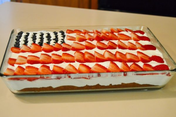 Stars and Stripes Cake recipe from OKCMomsBlog