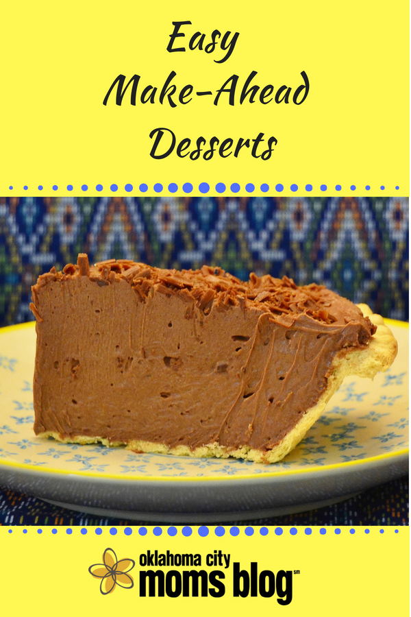 Easy Make-Ahead Desserts from OKCMomsBlog