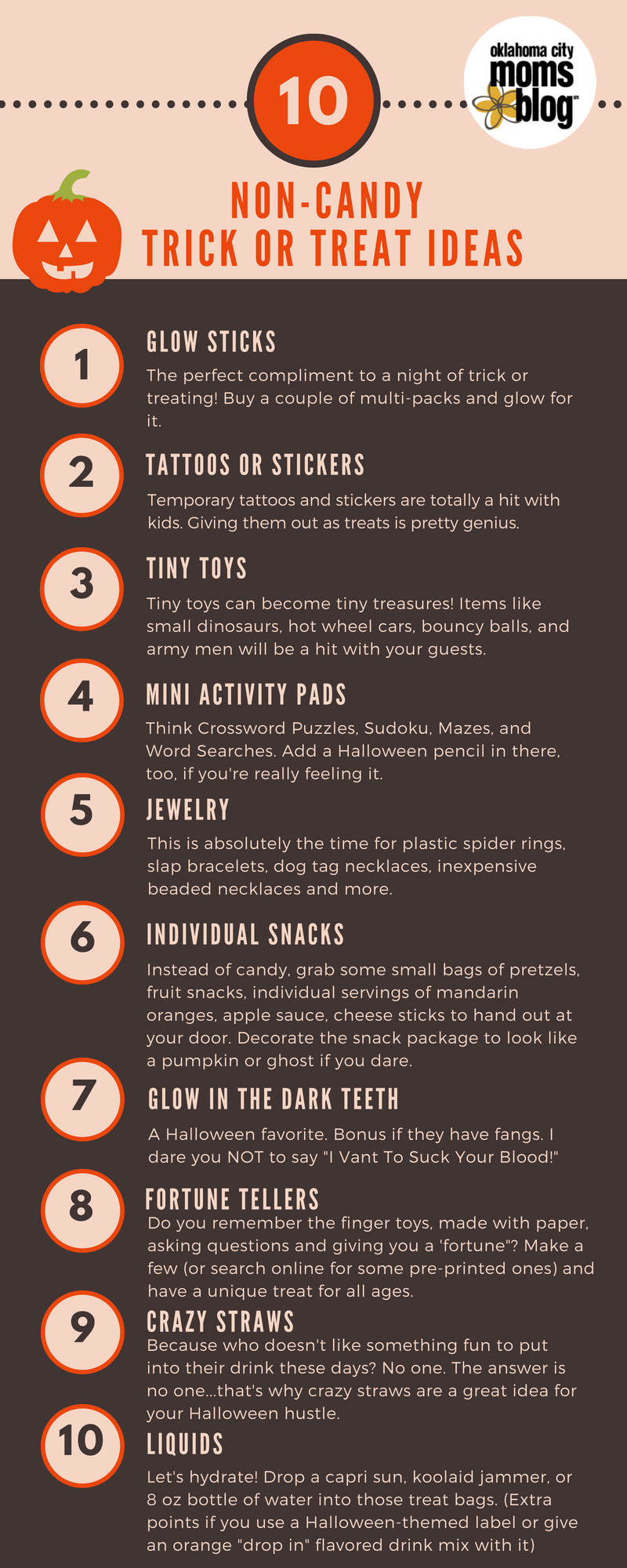 A Moms Guide To Clever Non Candy Trick Or Treat Items