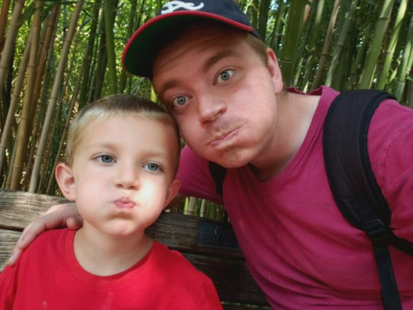 Davis was able to take Leif to the zoo one day when Leif had a day off of school