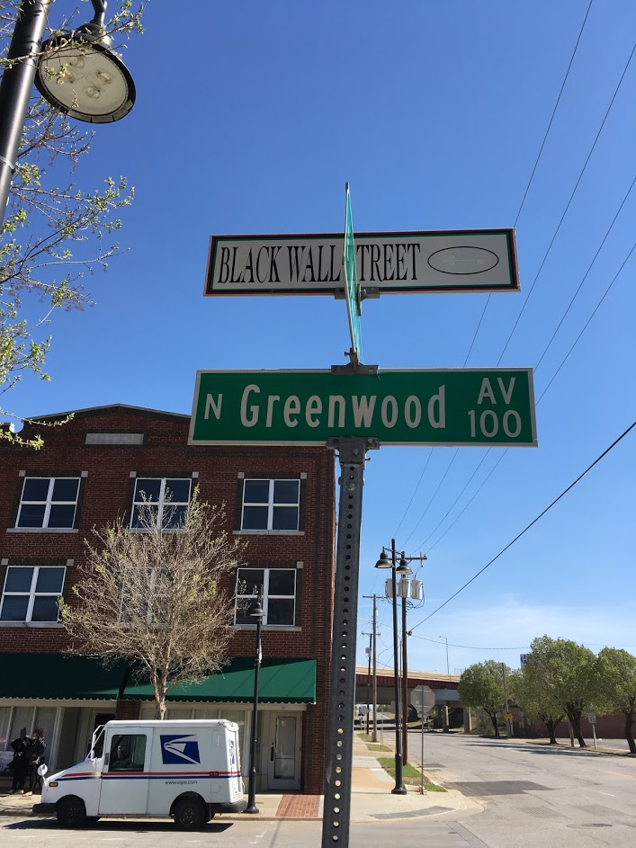 black wall sreet sign